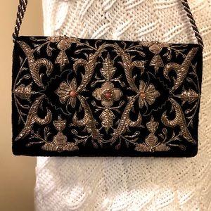 Sudha bejeweled velvet/satin bag